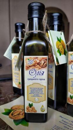 Олія грецького горіха холодного віджиму