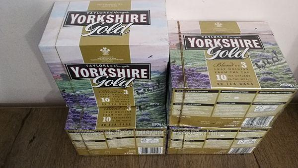 Чай – YORKHIRE GOLD – 80 пак. 250 гр. вжити до 06. 2021 р.